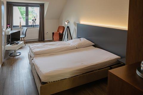 Hotel Zimmer Bodenständig